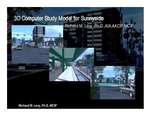 3D Computer Study Model for Sunnyside