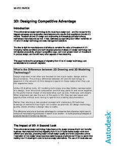 3D: Designing Competitive Advantage