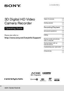 3D Digital HD Video Camera Recorder