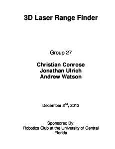 3D Laser Range Finder