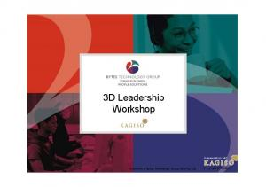 3D Leadership Workshop