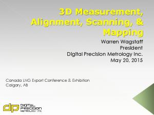 3D Measurement, Alignment, Scanning, & Mapping