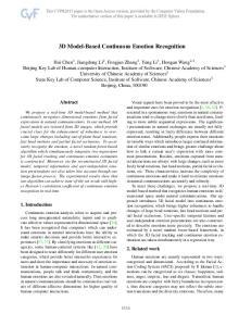 3D Model-Based Continuous Emotion Recognition