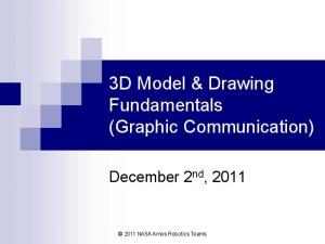 3D Model & Drawing Fundamentals (Graphic Communication)