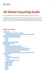 3D Model Importing Guide