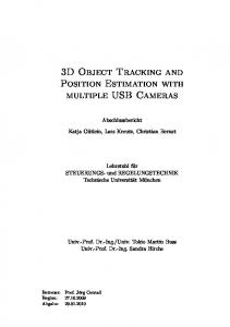 3D Object Tracking and Position Estimation with multiple USB Cameras