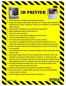3d printer. Love & Roy (2014)