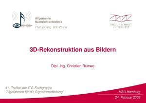 3D-Rekonstruktion aus Bildern