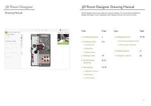 3D Room Designer Drawing Manual