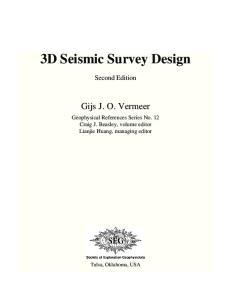 3D Seismic Survey Design
