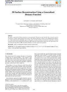 3D Surface Reconstruction Using a Generalized Distance Function