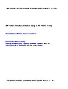 3D Vector Velocity Estimation using a 2D Phased Array