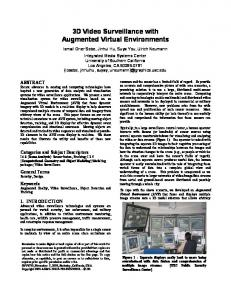 3D Video Surveillance with Augmented Virtual Environments