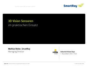 3D Vision Sensoren im praktischen Einsatz