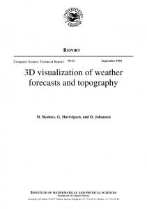3D visualization of weather forecasts and topography