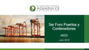 3er Foro Puertos y Contenedores