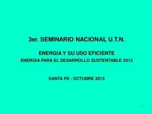 3er. SEMINARIO NACIONAL U.T.N