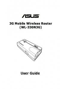 3G Mobile Wireless Router (WL-330N3G) User Guide