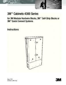3M Cabinets 4300 Series