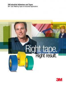 3M Industrial Adhesives and Tapes 3M Color Masking Tapes for Industrial Applications. Right tape. Right result