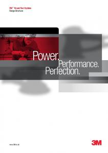 3M Power Tool System Range Brochure. Power. Performance. Perfection
