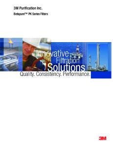 3M Purification Inc. Betapure PK Series Filters