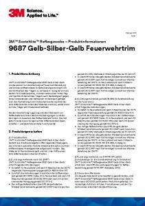3M Scotchlite Reflexgewebe Produktinformationen 9687 Gelb-Silber-Gelb Feuerwehrtrim