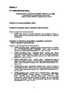 3.Odborné monografie vydané v domácich vydavatestvách