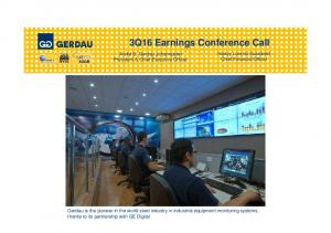 3Q16 Earnings Conference Call