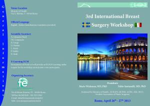 3rd International Breast Surgery Workshop
