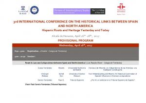 3rd INTERNATIONAL CONFERENCE ON THE HISTORICAL LINKS BETWEEN SPAIN AND NORTH AMERICA