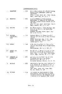 [4] BELCHER, [5] BI SHOP [2] BEGEMANN [3] BELCHER. [7] BJERRUM und [9] BUISSON