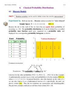 4. Classical Probability Distributions