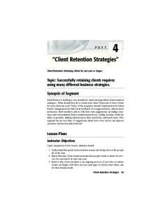 4 Client Retention Strategies