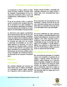 4. Conceptos en el programa ampliado de inmunizaciones