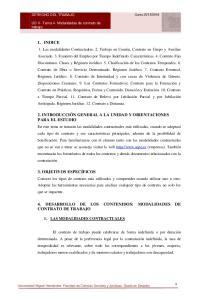 4. DESARROLLO DE LOS CONTENIDOS: MODALIDADES DE CONTRATO DE TRABAJO