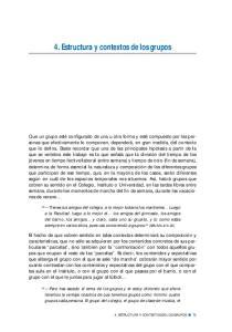 4. Estructura y contextos de los grupos