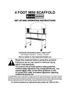 4 foot mini Scaffold