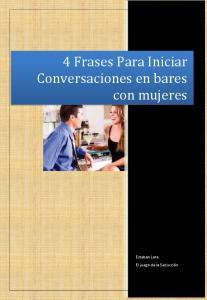 4 Frases Para Iniciar Conversaciones en bares con mujeres