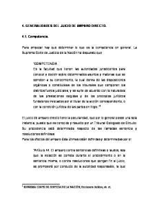 4. GENERALIDADES DEL JUICIO DE AMPARO DIRECTO