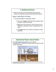 4. Geothermal Power. Geothermal Power: How It Works