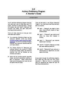 4-H Archery Proficiency Program A Member s Guide