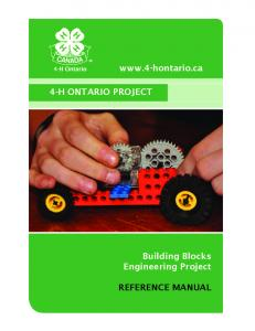 4-H ONTARIO PROJECT Building Blocks Engineering Project REFERENCE MANUAL