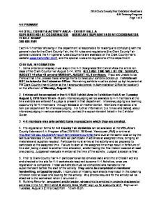 4-H STILL EXHIBIT & ACTIVITY AREA EXHIBIT HALL A SUPERINTENDENT COORDINATOR ASSISTANT SUPERINTENDENT COORDINATOR TERI LE SHARP