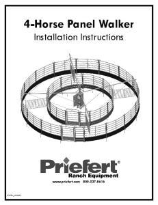 4-Horse Panel Walker Installation Instructions