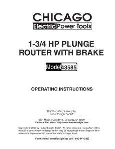 4 HP PLUNGE ROUTER WITH BRAKE