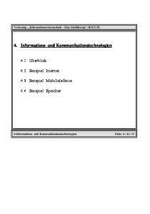 4. Informations- und Kommunikationstechnologien