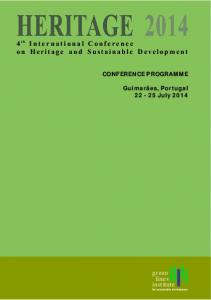 4 International Conference on Heritage and Sustainable Development