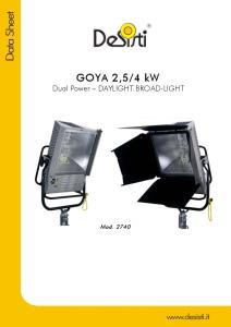 4 kw Dual Power DAYLIGHT BROAD-LIGHT