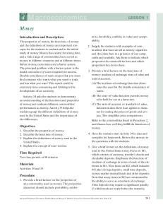 4 Macroeconomics LESSON 1
